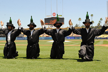 The Amazing Bottle Dancers at Los Angeles Dodgers Jewish Community Day