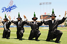 The Amazing Bottle Dancers at Los Angeles Dodger Jewish Community Day