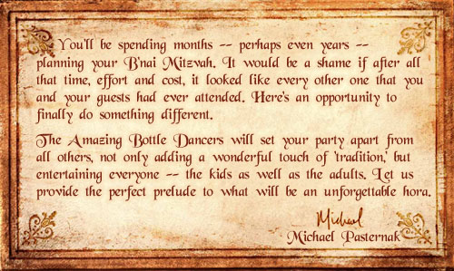 Michael's B'nai Mitzvah Message