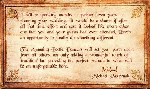 Michael's Wedding Message